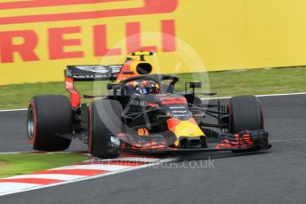 World © Octane Photographic Ltd. Formula 1 – Japanese GP - Qualifying. Aston Martin Red Bull Racing TAG Heuer RB14 – Max Verstappen. Suzuka Circuit, Japan. Saturday 6th October 2018.