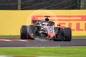 World © Octane Photographic Ltd. Formula 1 – Japanese GP - Qualifying. Haas F1 Team VF-18 – Romain Grosjean. Suzuka Circuit, Japan. Saturday 6th October 2018.