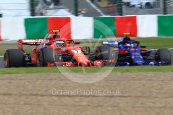 World © Octane Photographic Ltd. Formula 1 – Japanese GP - Qualifying. Scuderia Ferrari SF71-H – Kimi Raikkonen and Scuderia Toro Rosso STR13 – Pierre Gasly. Suzuka Circuit, Japan. Saturday 6th October 2018.