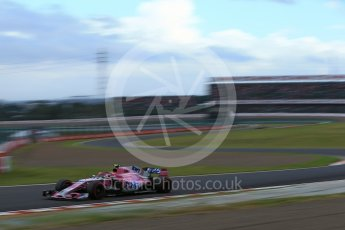 World © Octane Photographic Ltd. Formula 1 – Japanese GP - Qualifying. Racing Point Force India VJM11 - Esteban Ocon. Suzuka Circuit, Japan. Saturday 6th October 2018.