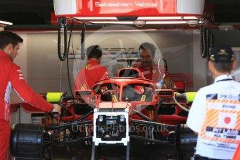 World © Octane Photographic Ltd. Formula 1 – Japanese GP - Pit Lane. Scuderia Ferrari SF71-H – Sebastian Vettel. Suzuka Circuit, Japan. Sunday 7th October 2018.