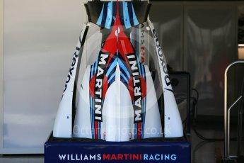 World © Octane Photographic Ltd. Formula 1 – Japanese GP - Pit Lane. Williams Martini Racing bodywork - race day setup. Suzuka Circuit, Japan. Sunday 7th October 2018.