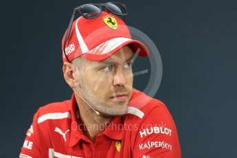 World © Octane Photographic Ltd. Formula 1 – Japanese GP - FIA Drivers' Press Conference. Scuderia Ferrari – Sebastian Vettel. Suzuka Circuit, Japan. Thursday 4th October 2018.