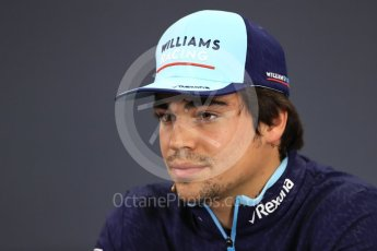 World © Octane Photographic Ltd. Formula 1 – Japanese GP - FIA Drivers' Press Conference. Williams Martini Racing – Lance Stroll. Suzuka Circuit, Japan. Thursday 4th October 2018.