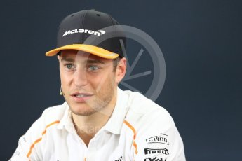 World © Octane Photographic Ltd. Formula 1 – Japanese GP - FIA Drivers' Press Conference. McLaren – Stoffel Vandoorne Suzuka Circuit, Japan. Thursday 4th October 2018.