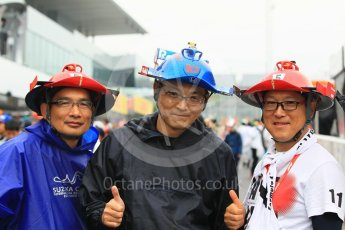 World © Octane Photographic Ltd. Formula 1 – Japanese GP – Fans in the pitlane. Suzuka Circuit, Japan. Thursday 4th October 2018.