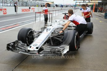 World © Octane Photographic Ltd. Formula 1 – Japanese GP - Pit Lane. Alfa Romeo Sauber F1 Team C37 – Marcus Ericsson. Suzuka Circuit, Japan. Thursday 4th October 2018.