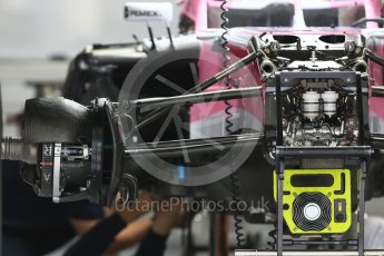 World © Octane Photographic Ltd. Formula 1 – Japanese GP - Paddock. Racing Point Force India VJM11. Suzuka Circuit, Japan. Thursday 4th October 2018.