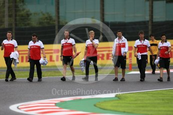 World © Octane Photographic Ltd. Formula 1 – Japanese GP - Track Walk. Alfa Romeo Sauber F1 Team C37 – Marcus Ericsson. Suzuka Circuit, Japan. Thursday 4th October 2018.