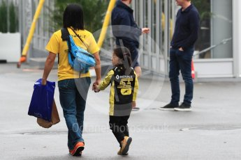 World © Octane Photographic Ltd. Formula 1 – Japanese GP - Paddock. Renault Sport F1 Team RS18 – Carlos Sainz young fan. Suzuka Circuit, Japan. Thursday 4th October 2018.