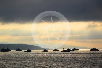 World © Octane Photographic Ltd. Yachts in the early morning bay - Atmosphere. Monte-Carlo. Friday 25th May 2018.