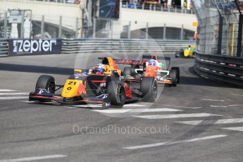 World © Octane Photographic Ltd. Formula Renault 2.0 – Monaco GP - Race 1. Monte-Carlo. Tech 1 Racing - Neil Verhagen and MP Motorsport - Max Defournay. Saturday 26th May 2018.