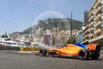World © Octane Photographic Ltd. Formula 1 – Monaco GP - Practice 3. McLaren MCL33 – Stoffel Vandoorne. Monte-Carlo. Saturday 26th May 2018.