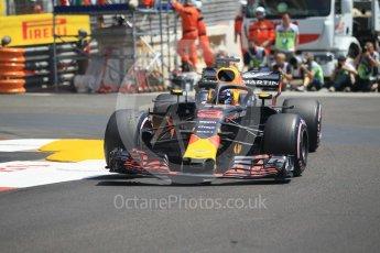 World © Octane Photographic Ltd. Formula 1 – Monaco GP - Practice 3. Aston Martin Red Bull Racing TAG Heuer RB14 – Daniel Ricciardo. Monte-Carlo. Saturday 26th May 2018.