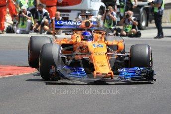 World © Octane Photographic Ltd. Formula 1 – Monaco GP - Practice 3. McLaren MCL33 – Fernando Alonso. Monte-Carlo. Saturday 26th May 2018.