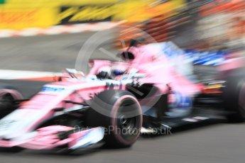 World © Octane Photographic Ltd. Formula 1 – Monaco GP - Practice 3. Sahara Force India VJM11 - Sergio Perez. Monte-Carlo. Saturday 26th May 2018.