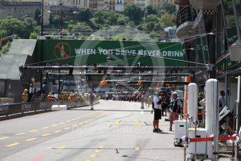 World © Octane Photographic Ltd. Formula 1 – Monaco GP - Practice 3. Monaco pit lane. Monte-Carlo. Saturday 26th May 2018.
