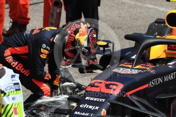 World © Octane Photographic Ltd. Formula 1 – Monaco GP - Practice 3. Aston Martin Red Bull Racing TAG Heuer RB14 – Max Verstappen crash at exit of Swimming Pool. Monte-Carlo. Saturday 26th May 2018.