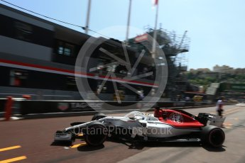World © Octane Photographic Ltd. Formula 1 – Monaco GP - Practice 3. Alfa Romeo Sauber F1 Team C37 – Marcus Ericsson. Monte-Carlo. Saturday 26th May 2018.