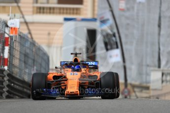 World © Octane Photographic Ltd. Formula 1 – Monaco GP - Practice 1. McLaren MCL33 – Fernando Alonso. Monte-Carlo. Thursday 24th May 2018.