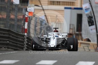 World © Octane Photographic Ltd. Formula 1 – Monaco GP - Practice 1. Alfa Romeo Sauber F1 Team C37 – Marcus Ericsson. Monte-Carlo. Thursday 24th May 2018.