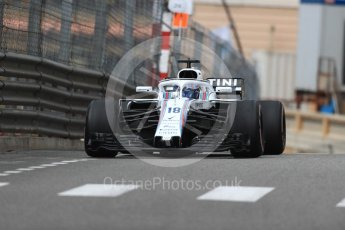 World © Octane Photographic Ltd. Formula 1 – Monaco GP - Practice 1. Williams Martini Racing FW41 – Lance Stroll. Monte-Carlo. Thursday 24th May 2018.