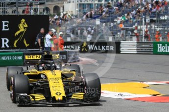 World © Octane Photographic Ltd. Formula 1 – Monaco GP - Practice 2. Renault Sport F1 Team RS18 – Nico Hulkenberg. Monte-Carlo. Thursday 24th May 2018.