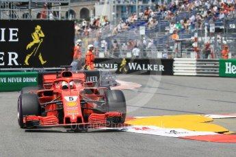 World © Octane Photographic Ltd. Formula 1 – Monaco GP - Practice 2. Scuderia Ferrari SF71-H – Sebastian Vettel. Monte-Carlo. Thursday 24th May 2018.