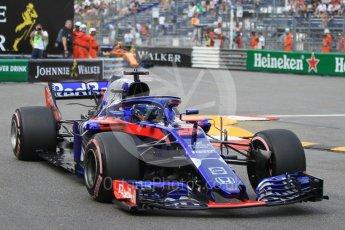World © Octane Photographic Ltd. Formula 1 – Monaco GP - Practice 2. Scuderia Toro Rosso STR13 – Brendon Hartley. Monte-Carlo. Thursday 24th May 2018.