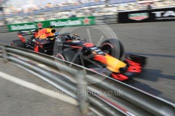 World © Octane Photographic Ltd. Formula 1 – Monaco GP - Practice 2. Aston Martin Red Bull Racing TAG Heuer RB14 – Daniel Ricciardo. Monte-Carlo. Thursday 24th May 2018.
