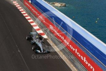 World © Octane Photographic Ltd. Formula 1 – Monaco GP - Practice 2. Mercedes AMG Petronas Motorsport AMG F1 W09 EQ Power+ - Valtteri Bottas. Monte-Carlo. Thursday 24th May 2018.