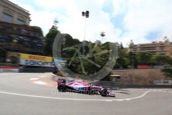 World © Octane Photographic Ltd. Formula 1 – Monaco GP - Practice 2. Sahara Force India VJM11 - Esteban Ocon. Monte-Carlo. Thursday 24th May 2018.
