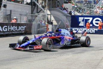 World © Octane Photographic Ltd. Formula 1 – Monaco GP - Qualifying. Scuderia Toro Rosso STR13 – Brendon Hartley. Monte-Carlo. Saturday 26th May 2018.