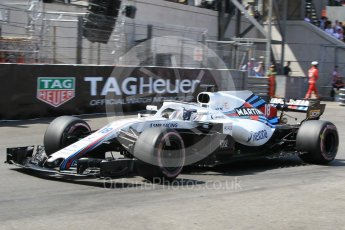 World © Octane Photographic Ltd. Formula 1 – Monaco GP - Qualifying. Williams Martini Racing FW41 – Lance Stroll. Monte-Carlo. Saturday 26th May 2018.