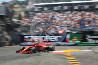 World © Octane Photographic Ltd. Formula 1 – Monaco GP - Qualifying. Scuderia Ferrari SF71-H – Kimi Raikkonen. Monte-Carlo. Saturday 26th May 2018.