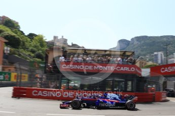 World © Octane Photographic Ltd. Formula 1 – Monaco GP - Qualifying. Scuderia Toro Rosso STR13 – Brendon Hartley. Monte-Carlo. Saturday 26th May 2018.