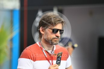 World © Octane Photographic Ltd. Formula 1 – Monaco GP - Paddock. Game of Thrones star Nikolaj Coster-Waldau