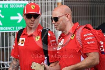 World © Octane Photographic Ltd. Formula 1 – Monaco GP - Paddock. Scuderia Ferrari SF71-H – Kimi Raikkonen. Monte-Carlo. Sunday 27th May 2018.