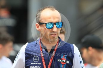 World © Octane Photographic Ltd. Formula 1 – Monaco GP - Paddock. Williams Martini Racing FW41 – Robert Kubica. Monte-Carlo. Thursday 24th May 2018.