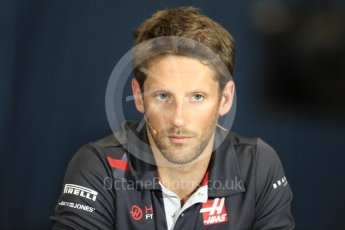 World © Octane Photographic Ltd. Formula 1 – Monaco GP –Drivers Press Conference. Haas F1 Team – Romain Grosjean. Monte-Carlo. Wednesday 23rd May 2018.