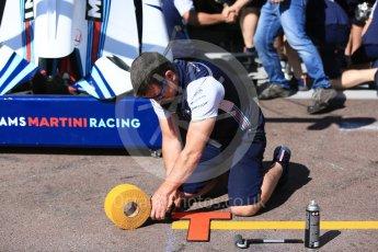World © Octane Photographic Ltd. Formula 1 – Monaco GP - Setup. Williams Martini Racing FW41. Monte-Carlo. Wednesday 23rd May 2018.