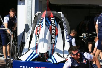 World © Octane Photographic Ltd. Formula 1 – Monaco GP - Setup. Williams Martini Racing FW41. Monte-Carlo. Wednesday 23rd May 2018.