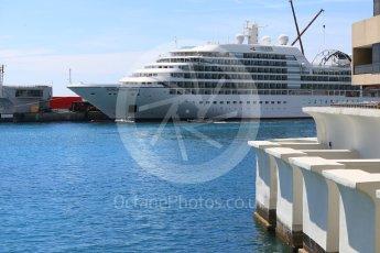 World © Octane Photographic Ltd. Formula 1 – Monaco GP - Setup. Seabourn Odyssey in harbour. Monte-Carlo. Wednesday 23rd May 2018.
