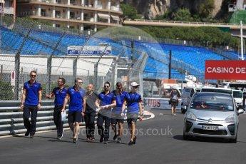 World © Octane Photographic Ltd. Formula 1 – Monaco GP - Track Walk. Scuderia Toro Rosso STR13 – Pierre Gasly. Monte-Carlo. Wednesday 23rd May 2018.
