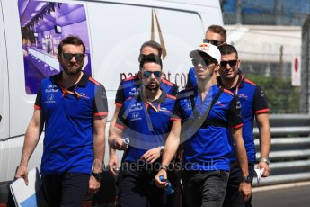 World © Octane Photographic Ltd. Formula 1 – Monaco GP - Track Walk. Scuderia Toro Rosso STR13 – Pierre Gasly. Monte-Carlo. Wednesday 23rd May 2018.