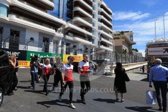 World © Octane Photographic Ltd. Formula 1 – Monaco GP - Track Walk. Alfa Romeo Sauber F1 Team C37 – Charles Leclerc. Monte-Carlo. Wednesday 23rd May 2018.