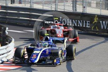 World © Octane Photographic Ltd. FIA Formula 2 (F2) – Monaco GP - Practice. Carlin - Lando Norris and Prema Powerteam - Nyck de Vries. Monte Carlo. Thursday 24th May 2018.