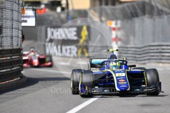 World © Octane Photographic Ltd. FIA Formula 2 (F2) – Monaco GP - Race 1. Carlin - Lando Norris. Monte Carlo. Friday 25th May 2018.