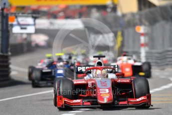 World © Octane Photographic Ltd. FIA Formula 2 (F2) – Monaco GP - Race 1. Prema Powerteam - Sean Gelael. Monte Carlo. Friday 25th May 2018.