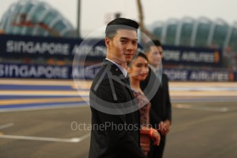 World © Octane Photographic Ltd. Formula 1 – Singapore GP - Drivers Parade. Marina Bay Street Circuit, Singapore. Sunday 16th September 2018.